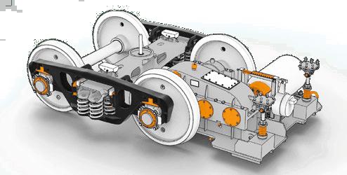 Тележка приводная ходовая с редуктором механизма передвижения